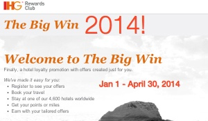 IHG Big Win Promotion